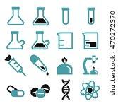 lab beakers icon set | Shutterstock .eps vector #470272370