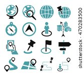 location  place icon set | Shutterstock .eps vector #470283500