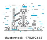 space shuttle vector... | Shutterstock .eps vector #470292668