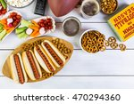 appetizers on the table for the ... | Shutterstock . vector #470294360