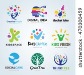 creative ideas logo set  brand... | Shutterstock .eps vector #470300459