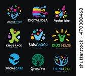 creative logo design set  brand ... | Shutterstock .eps vector #470300468