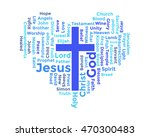 word cloud of christian... | Shutterstock .eps vector #470300483
