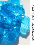 blue jelly on white background  | Shutterstock . vector #470301959