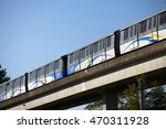 Small photo of SKYTRAIN, VANCOUVER - AUG.15, 20116: Fully automated trains without the driver is in service since 1985 with 3 lines. 68 km of tracks and 47 stations connects all important parts of Metro Vancouver.