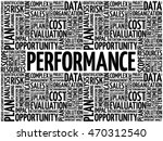 performance word cloud collage  ... | Shutterstock .eps vector #470312540