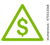 money warning icon. glyph style ... | Shutterstock . vector #470313368