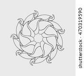 geometric abstraction  mandala | Shutterstock .eps vector #470319590