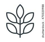 twig colored vector icon | Shutterstock .eps vector #470320988