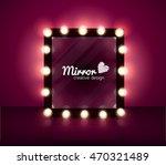 mirror realistic vector...   Shutterstock .eps vector #470321489