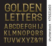 golden capital letters with... | Shutterstock .eps vector #470321603