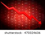 stock market crash moving down. ... | Shutterstock .eps vector #470324636