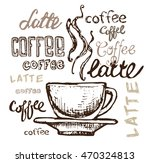 coffee collection   hand drawn... | Shutterstock .eps vector #470324813