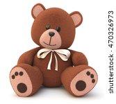 3d rendering of a teddy bear on ... | Shutterstock . vector #470326973