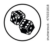 craps dice icon. thin circle... | Shutterstock .eps vector #470331818