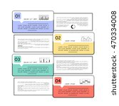 template for infographic with 4 ... | Shutterstock .eps vector #470334008