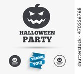 halloween pumpkin sign icon.... | Shutterstock .eps vector #470336768