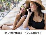 Two Beautiful Girls Laughing...