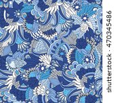 vector seamless floral pattern... | Shutterstock .eps vector #470345486