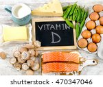 foods rich in vitamin d.... | Shutterstock . vector #470347046
