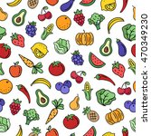 fruit and vegetables seamless... | Shutterstock .eps vector #470349230