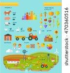 eco farm infographic  elements. ... | Shutterstock . vector #470360516