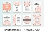 set of cards save the date.... | Shutterstock .eps vector #470362730