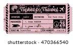 vintage grungy airplane ticket. ... | Shutterstock .eps vector #470366540