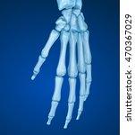 human wrist anatomy. medically... | Shutterstock . vector #470367029