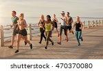 group of runners running on... | Shutterstock . vector #470370080