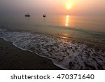 Sunrise Over The Sea And...