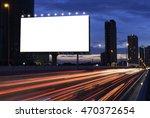 blank billboard on the highway... | Shutterstock . vector #470372654