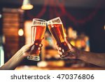 two friends toasting with... | Shutterstock . vector #470376806