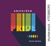 gay pride poster rainbow... | Shutterstock .eps vector #470388290