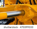 hydraulic piston against the... | Shutterstock . vector #470399333