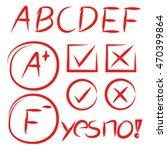 grade result  check mark | Shutterstock .eps vector #470399864