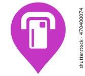 atm map pointer icon. vector... | Shutterstock .eps vector #470400074