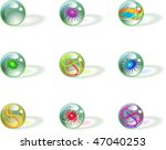 shiny glass marbles spheres