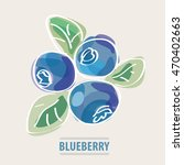 blueberry vector illustration.... | Shutterstock .eps vector #470402663