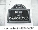 champs elysees avenue in paris | Shutterstock . vector #470406800