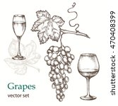 hand drawn illustrations of ... | Shutterstock .eps vector #470408399