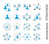people connection icons and... | Shutterstock .eps vector #470415434