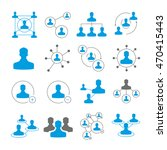 people connection icons and... | Shutterstock .eps vector #470415443