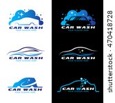 car wash service logo vector... | Shutterstock .eps vector #470418728