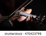 violinist holding in your hands ... | Shutterstock . vector #470423798