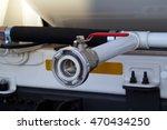 crane on a gasoline tank truck. ... | Shutterstock . vector #470434250