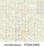 set of 850 minimalistic colored ... | Shutterstock .eps vector #470461880