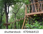 adventure climbing high wire... | Shutterstock . vector #470466413