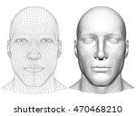 realistic 3d man head polygonal ... | Shutterstock .eps vector #470468210