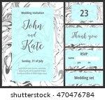 mint wedding invitation...   Shutterstock .eps vector #470476784